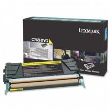 Картридж Оригинальный Lexmark C748H1YG (10000 стр. Желтый)