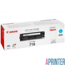 Картридж для лазерного принтера Canon 718 (2900 стр. Cyan)