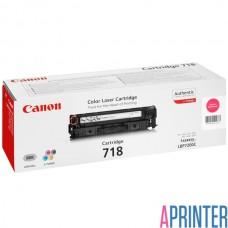 Картридж для лазерного принтера Canon 718 (Magenta 2900 стр.)